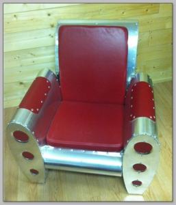 Classic aluminium armchair